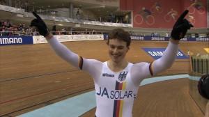 スプリント優勝のステファン・ベティヒャー 21歳。
