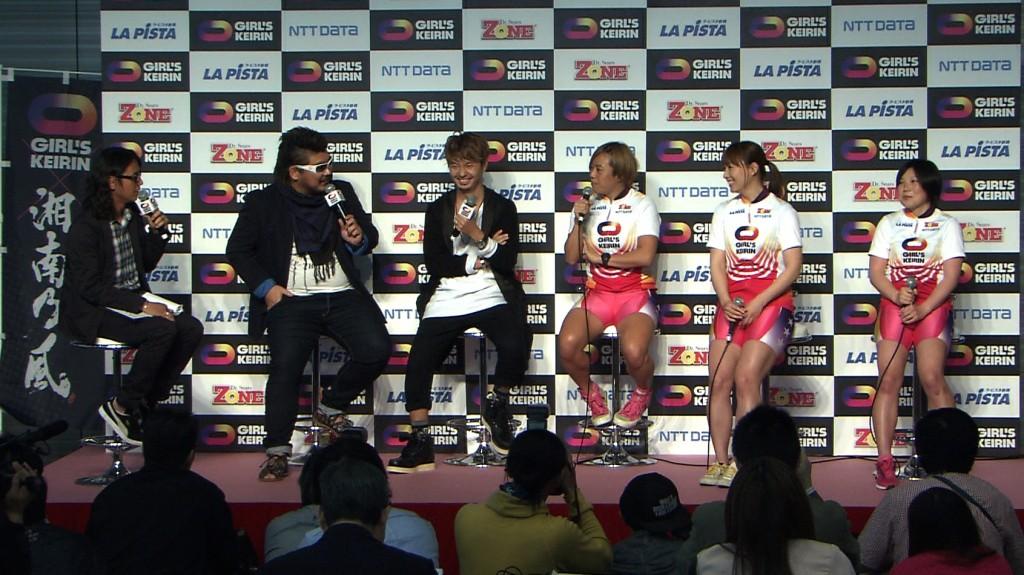 湘南乃風と加瀬加奈子選手らがトークセッション